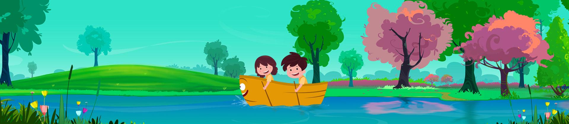 row row row your boat nursery rhyme with lyrics